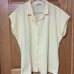 VINTAGE YELLOW GINGHAM TOP